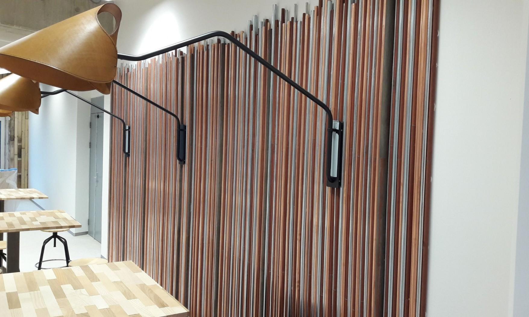 Harryvan Interierbouw | duurzame plafond en wandbekleding (Alliander Arnhem)